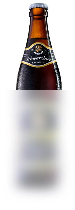 SchwarzbierUnser kräftig-dunkles Schwarzbier kann bei Tag und bei Nacht genossen werden.