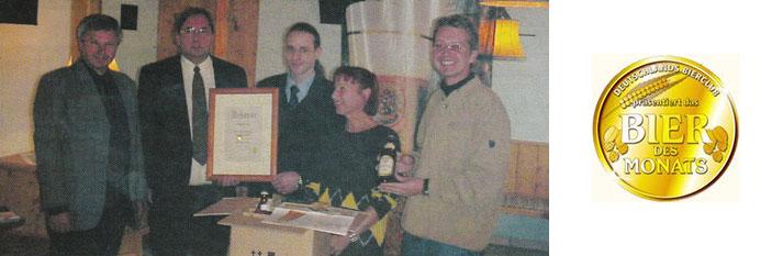 Das LOSCHER PILS wird vom deutschen BIER-CLUB.de zum Bier des Monats Oktober gewählt