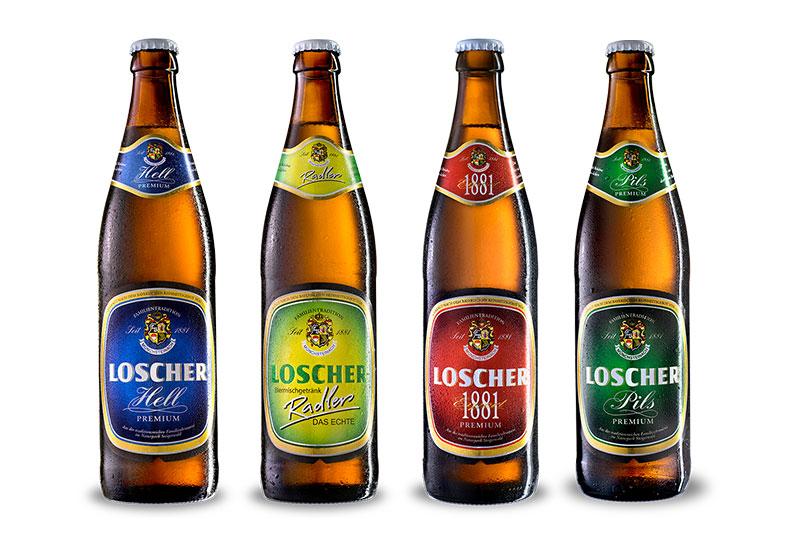 Neuer Auftritt und neues Design für die Loscher-Bierfamilie.