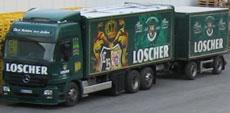 Ein Lastzug mit 1400 Kisten Stellplatzfläche wird angeschafft.