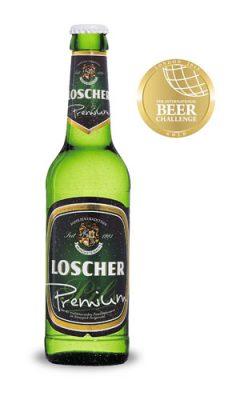 LOSCHER PILS Premium mit der GOLD-Medaille ausgezeichnet