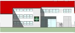 Beginn des Umbaus und Erweiterung des bestehenden Bürogebäudes
